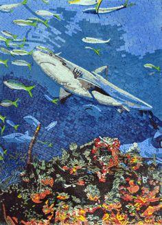 Underwater mosaic mural.  www.mosaicsyourway.com