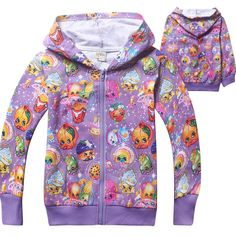 kids girls SHOPKINS clothing coat hoodie thin jacket tracksuit outfit p Shopkins Outfit, Shopkins Clothes, Spring Outfits, Kids Outfits, Shopkins Girls, Unique Hoodies, Shirts For Girls, American Girl Doll Lea, Shopping