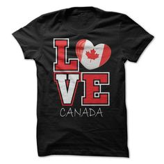 Love Canada Flag T-Shirt T-Shirts, Hoodies (19$ ==► Shopping Now!)