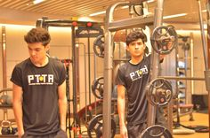 The Perkins Twins, Philippine Tennis Players and Philippine Tennis Coaches at the Perkins Twins Tennis Academy, working out at the Edsa Shangri-la Health Club - best tennis and best health club in the Philippines!  info@philippine.tennis
