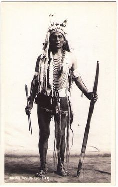 BLACKFOOT (Stoney) Mark Poucette, c.1920. Photographed and copyrighted by Baron Harmon, Banff, Canada. Real Photo Postcard edited c.1920s.