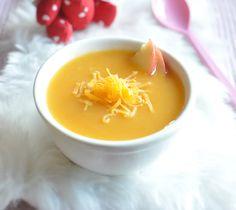 Recette Velouté de carottes à la pomme - Envie de bien manger. Plus de recettes pour bébé sur www.enviedebienmanger.fr/idees-recettes/recettes-pour-bebe