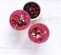 Super Berry Smoothie   Frozen berries are a thrifty way of creating a healthy smoothie - pad it out with oats to make it extra filling