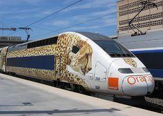 #TGV pellicullé pour #ORANGE - réalisation #Megamark- http://www.megamark.fr