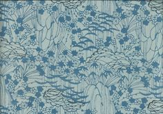 "Silk Kimono ""Blue Momiji""    http://www.kesarankimonofabric.com/"