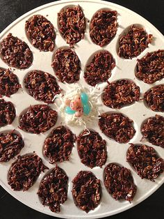 Another easy No Bake recipe using your deviled egg dish! Chocolate Coconut Easter Eggs #DIY #Kids reluctantentertainer.com