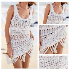 New Women Beachdress Swimwear Lace Chiffon Crochet Bikini Coverup Bathingsuit A4 | eBay