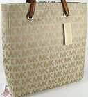 #goldearrings - Michael Kors MK Signature Purse XL Tote Beige Camel Tan Shoulder Hand Bag NWT - http://pinfollow.me/categories/womens-fashion/designer-handbags-purses/michael-kors-mk-signature-purse-xl-tote-beige-camel-tan-shoulder-hand-bag-nwt/
