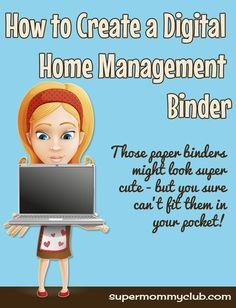 Digital Home Management Organization with Evernote Household Binder, Household Notebook, Home Binder, Home Management Binder, Time Management, Binder Organization, College Organization, Organizing Life, Family Organizer