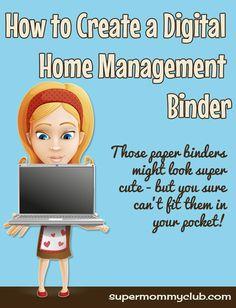 Digital Home Management Organization with Evernote Home Organisation, Binder Organization, College Organization, Organizing Life, Home Management Binder, Time Management Tips, Household Binder, Household Notebook, Home Binder