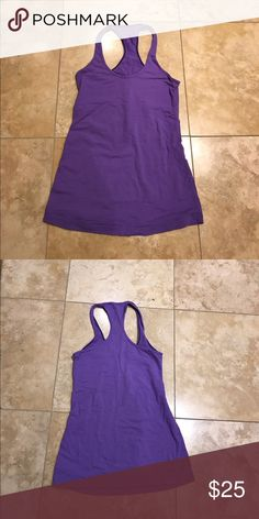 🍋 Lululemon purple cool racerback, size 4 Beautiful workout top. lululemon athletica Tops Tank Tops
