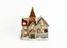 Lefton Colonial Village Church Christmas by OldVintageGoodies, $28.00. This cozy little church makes me happy. (1)