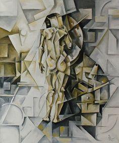 Girl in the mirror. Cubo-futurism. Krotkov Vassily. 2012