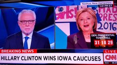 Body language of Hillary Clinton 2016 Iowa caucus on CNN