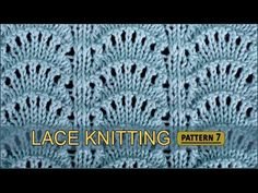 Peacock's Tail | Lace Knitting Pattern #7 - YouTube