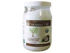 Teakwood Farms Organic Extra Virgin Coconut Oil, 16 fl.oz. ** Instant discounts available  : Baking supplies