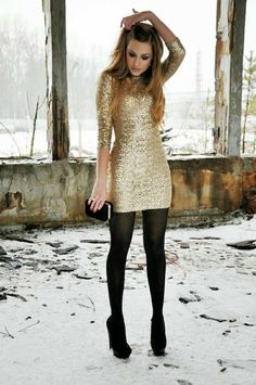 Love this! Great New Years Eve dress.