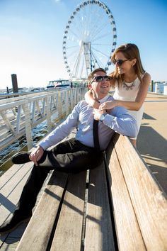 National Harbor Engagement. Fall Engagements Photo By Sokolov Photography