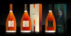 Cognac CHABASSE - VS, VSOP, Napoleon. Packaging design by #Linea