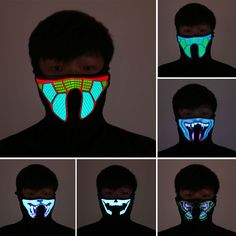 Apparel Accessories Good 1pc Led Mask Atttractive Luminous 7 Colors Dust-proof Bright Light Up Mask Rave Mask For Party Women Men Halloween Men's Accessories