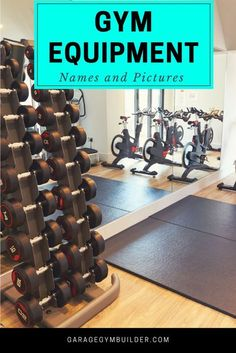With this handy guide we will walk you through exactly what the most popular exercise equipment does. This list of gym equipment will cover 95% of the exercise equipment you will see at your gym. #HomeGym #GarageGym #HomeFitness #CrossFit