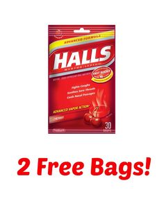 Swing by CVS this week and pick up two free bag of Halls this week!