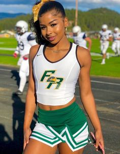 Girl Cheerleading Outfit Collection - Just Crumbs Cakes Cheer Outfits, Cheerleading Outfits, Beautiful Black Girl, Most Beautiful Women, Black Cheerleaders, Athletic Girls, Sporty Girls, Poses, Black Girls
