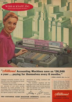 Imagine if we still sued accounting machines like these! Brought to you by Shoplet.com - everything for your business.