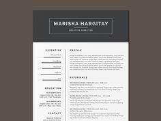 Free high end resume template designed handcraft in hipster style. This elegant and clean layout design will work well for any industry. Free Indesign Resume Template, Resume Template Examples, Resume Design Template, Free Resume, Future Jobs, Clean Design, Colour Images, Printable Planner, Creative Director