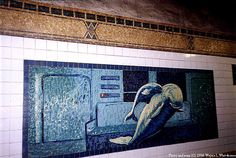 The Sea Creatures at the Houston Street Stop, NYC Subway Art.