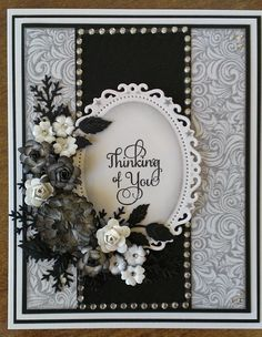 Black and White Challenge card More