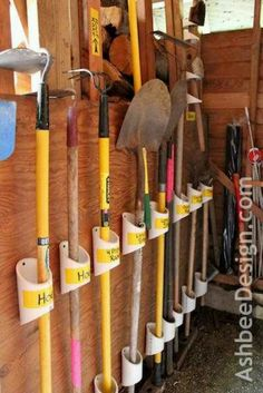 34 ideas for organizing garages - DIY garage organization ideas - . - 34 ideas for organizing garages – DIY garage organization ideas – organizing garden tools with -