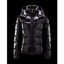 Moncler Maya Winter Mens Down Jacket Fabric Smooth Black Cheap Moncler  Outlet Store f71436ea833da