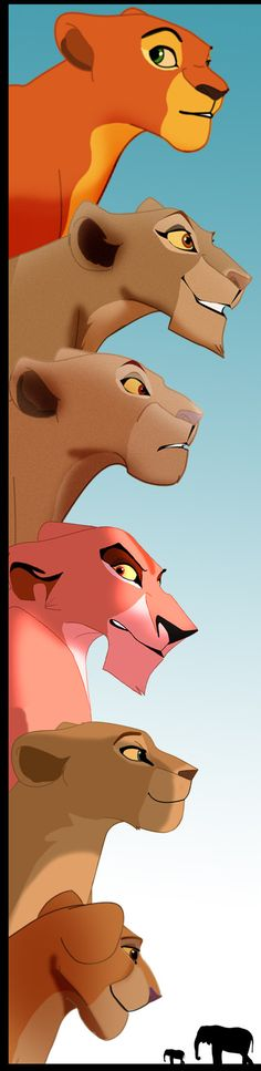 The Queens of Priderock Aziz (fanmade) Uru Sarabi Zira Nala Kiara Walt Disney, Disney Pixar, Disney And Dreamworks, Disney Animation, Disney Cartoons, Disney Magic, Disney Art, Disney Characters, Kiara Lion King