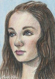 ACEO GAME OF THRONES Sansa Stark Limited Set1 Original Portrait13/20  #Miniature