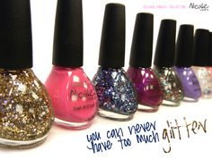 I love anything that glitters  . . . especially when I paint my toes