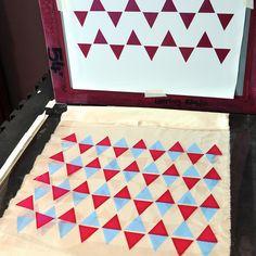 stencil screenprinting tutorial print by flowerpress
