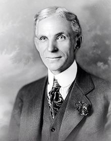 Henry Ford (July 30, 1863 – April 7, 1947) was an American industrialist, the founder of the Ford Motor Company, and the sponsor of the development of the assembly line technique of mass production.