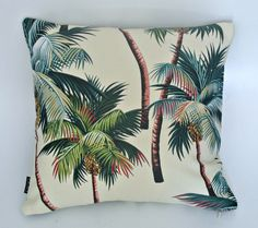Tropical Palms Cushion. Yes, I make these too!