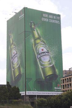 WONSA - Outdoor - Massive Heineken Wrap - #OutdoorAdvertising #BuildingWrap #Heineken
