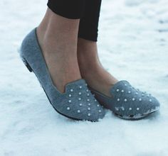 Blue loafers with studded toe - www.wearelse.com - #fashion #style