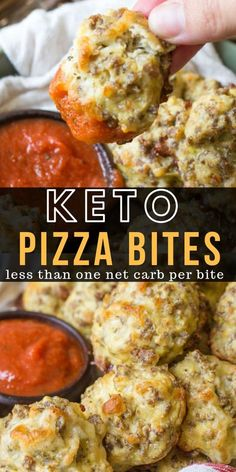 These Easy Keto Pizza Bites are loaded with Italian sausage and mozzarella! Perf… These Easy Keto Pizza Bites are loaded with Italian sausage and mozzarella! Perfect for keto meal prep and under 1 net carb per bite! Keto Foods, Ketogenic Recipes, Keto Snacks, Low Carb Recipes, Diet Recipes, Cooking Recipes, Healthy Recipes, Ketogenic Diet, Slimfast Recipes