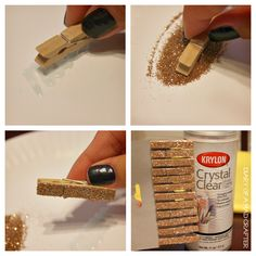 DIY Glitter Clothespins | Diary of a Mad Crafter