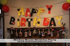 Mickey Mouse 1st Birthday Party -