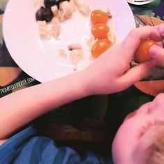 We are all a little guilty of it; once we find a new food the kids like we tend to offer all the time.   With LJ I learned he likes orange tomatoes so you probably noticed those in various plates.   I am trying to add variety but they are so nutritious and simple to add to a meal that I confess it makes it to his plate more often than it should   #frompickytoeater by frompickytoeater