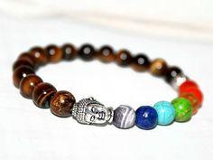 Chakra Bracelet Healing Jewelry Buddha Bracelet Tiger by ZenDeLux