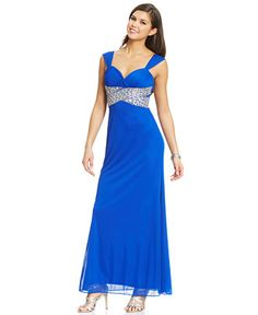 Hailey Logan by Adrianna Papell Juniors' Beaded Back Cutout Gown - Juniors Shop All Prom Dresses - Macy's