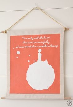 One of my favorite books/authors.  New project for my Cameo?   The Little Prince Wall Art - the DIY village