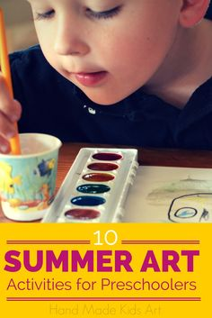 10 Summer Art Activities for Preschoolers! Love this round up of fun art projects for young artists!