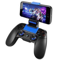 Manettes sans fil Android PowerLead Manettes sans fil pour IOS et Android Contrôleur Gamepad pour Téléphone Tablette iPad [non Compatible avec iOS 13.4 et Supérieur]